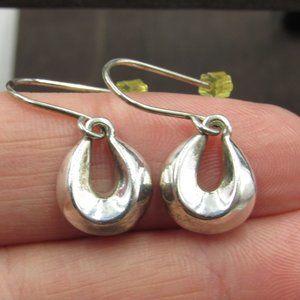 Sterling Silver Rustic Small Odd Dangle Earrings